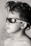 stock image of  kid and cool haircut