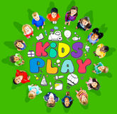 stock image of  kids play imagination hobbies leisure games concept