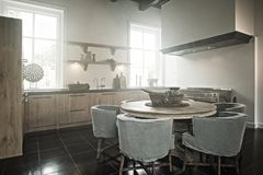 stock image of  kitchen haze