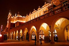 stock image of  the krakow cloth hall, dates to the renaissance and is one of the city most recognizable icons