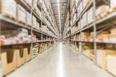 stock image of  large inventory. warehouse goods stock for logistic shipping