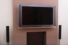 stock image of  large lcd tv