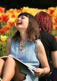stock image of  laughing woman