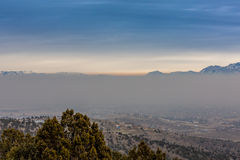 stock image of  layer of smog