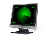 stock image of  lcd with radar