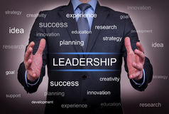 stock image of  leadership between two hand