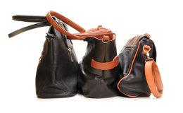 stock image of  leather bags