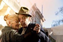 stock image of  legendary tangodancers pair - pochi and osvaldo