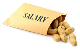stock image of  low salary