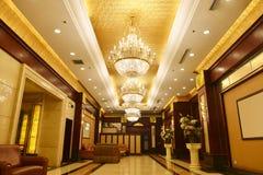 stock image of  luxury hotel lobby