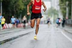 stock image of  male runner leader