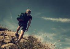 stock image of  man climb
