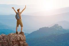 stock image of  man hiking