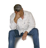 stock image of  a man thinking