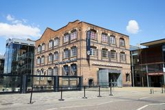 stock image of  manchester, uk - 4 may 2017: exterior of manchester museum of science and industry
