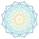 stock image of  mandala pattern colored background. vector illustration. meditation element for india yoga. ornament for decorating a