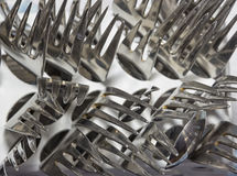 stock image of  many forks