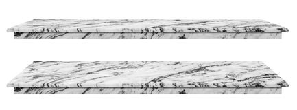 stock image of  marble table, counter top white surface, stone slab for display products isolated on white background have clipping path