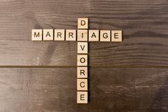 stock image of  marriage and divorce
