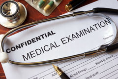 stock image of  medical confidentiality concept.