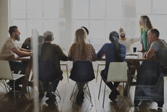 stock image of  meeting table networking sharing concept