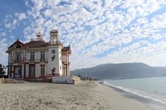 stock image of  a beachfront building located in the coastal city of mejillones