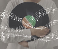 stock image of  melody music note rhythm graphic concept
