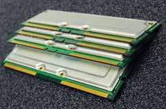 stock image of  memory modules