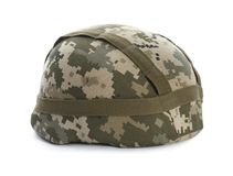 stock image of  military helmet on background