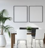 stock image of  mockup poster in hipster living room interior, scandinavian style
