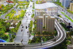 stock image of  models of urban mass transit system