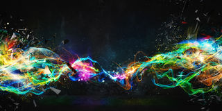 stock image of  modern abstract motion banner on dark background