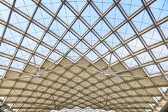 stock image of  modern architecture roof structure construction site