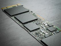 stock image of  modern computer chip. 3d rendering