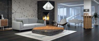 stock image of  modern interior design of living room