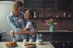 stock image of  mom and daughter