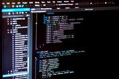 stock image of  monitor of it developer