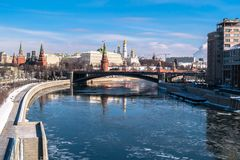 stock image of  the most recognizable moscow panoramic view. russia.