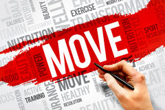 stock image of  move