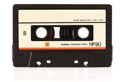 stock image of  music audio tape