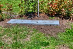 stock image of  music and entertainer roy clark`s burial site prior to the grave stone being installed
