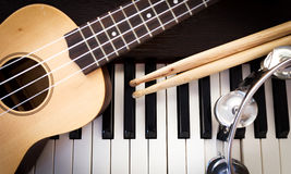 stock image of  music instruments.