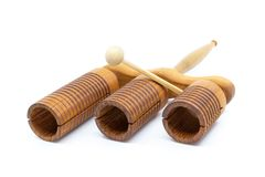stock image of  musical instrument - wooden agogo