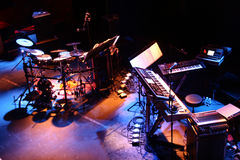 stock image of  musical instruments stage setup