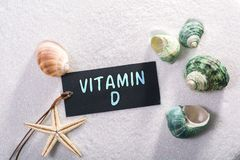 stock image of  label with vitamin d
