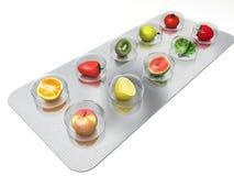 stock image of  natural vitamin pills