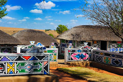 stock image of  ndebele village (south africa)