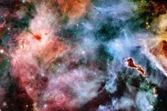 stock image of  nebula and galaxies in space. elements of this image furnished by nasa