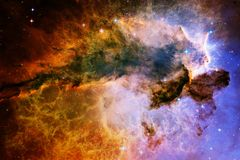stock image of  nebulae and many stars in outer space. elements of this image furnished by nasa