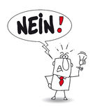 stock image of  nein